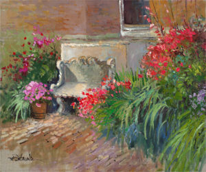 garden and courtyard fine art giclees by ellen diamond