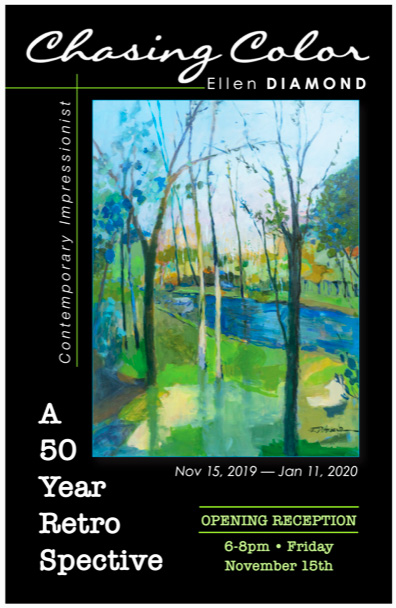 ellen diamond solo show chasing color november 2019 to january 2020