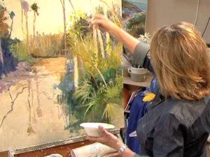 landscape painting techniqes video by artist instructor ellen diamond