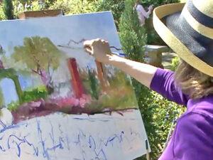 plein air painting lesson on video by artist instructor ellen diamond